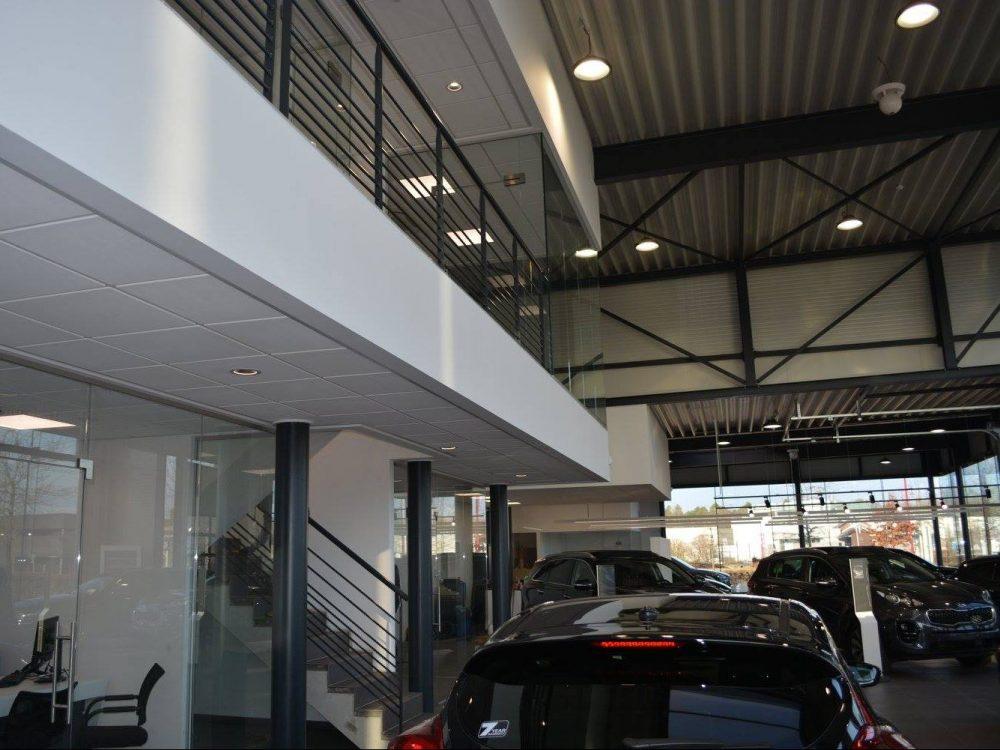 Constructions Louwet SA - Construction de garage dans la province de Liège - Garagebouw in de provincie Luik - Construction métallique - Metaalbouw - Colonnes métallique - Stalen kolommen