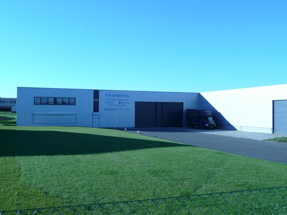 Constructions Louwet SA - Construction de bâtiment industriel dans la province de Liège - Industriebouw - Bouwen van industriële gebouwen - Construction métallique - Metaalbouw - Colonnes métallique - Stalen kolommen
