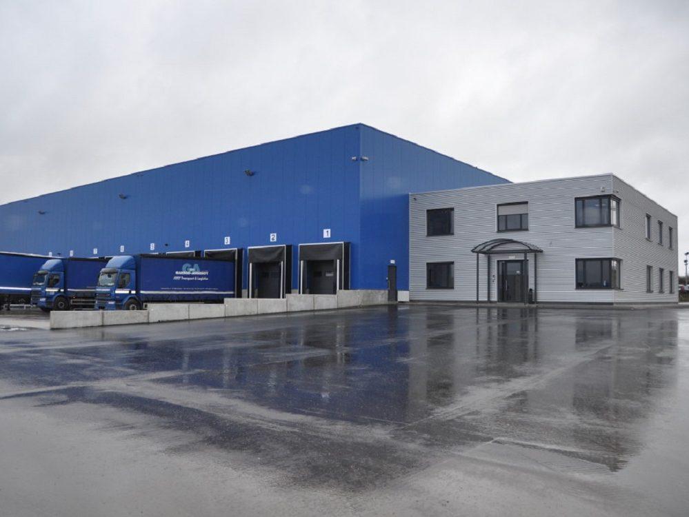 Constructions Louwet SA - Construction de bâtiment industriel dans la province de Liège - Les Plenesses - Bureau - Kantoren - Industriebouw - Bouwen van industriële gebouwen - Construction métallique - Metaalbouw - Colonnes métallique - Stalen kolommen